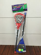 1 Pair Lacrosse Racquets & Balls Birdies and Balls Family Fun Sport Game Outdoor