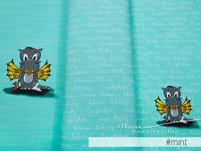 "Jersey-Stoff Kinder Baby-Drache Drachen grün ""baby arvetti #mint"" Panel - 0,60m"
