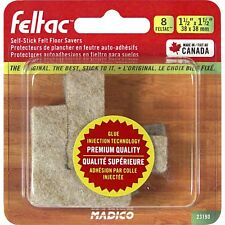Madico 38 x 38mm Beige Square Feltac Floor Protection Pad - 8 Pack