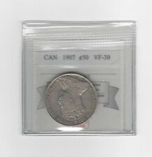 **1907**, Coin Mart Graded Canadian Silver 50 Cent, **VF-30**