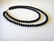 8mm Black Onyx Double Strand Necklace 8 mm Black Onyx Beads Multi Strand
