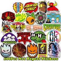 100x Skateboard Stickers Bomb Laptop Luggage Car Luggage Skateboard Vinyl Decals