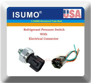 AC Pressure Transducer Switch Refrigerant Pressure Switch W/Connector For Mazda