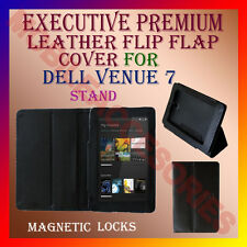 ACM-EXECUTIVE LEATHER FLIP FLAP CASE for DELL VENUE 7 TABLET COVER HOLDER STAND
