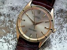 Stunning 18ct Gold 1962 Rolex Oyster Perpetual Chronometer Gents Vintage Watch