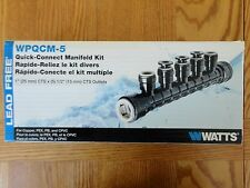 "Watts Quick-Connect 5 Port Manifold Kit 1"" CTS x 1/2"" WPQCM-5 for Copper PEX PB"