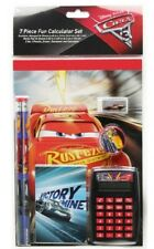 DISNEY CARS McQUEEN 7-Pc. Back-to-School Stationery & Calculator Supply Set