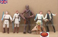 "6x Star Wars Han Solo Yoda Kenobi Obiwan Chewbacca 3.75"" Action Figures Boys Toy"