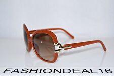 1e0fb0441c New Chloé Brick Brown Square Oversized CE637S 204 Chloe 58-17-135 Sunglasses