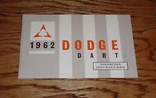1962 Dodge Dart Owners Operators Manual 62