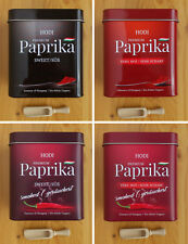 Hungarian Paprika, sweet or hot, smoked or not smoked, Tin + FREE wooden scoop