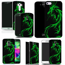gel rubber case cover for  Mobile phones - green dragon silicone