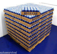 12 Cans Blue Can Emergency Survival Drinking Water 50 Year Shelf Life