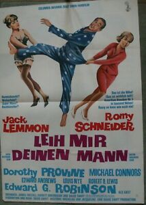 "Original-Kinoplakat A1: ""Leih mir Deinen Mann"" Romy Schneider, Jack Lemmon"