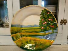 Colorful Hand Painted Large Bellini Platter