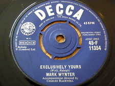 "MARK WYNTER - EXCLUSIVELY YOURS  7"" VINYL"