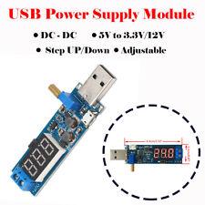 DC-DC USB Step UP/Down Power Supply Module Adjustable Converter 5V to 3.3V/12V