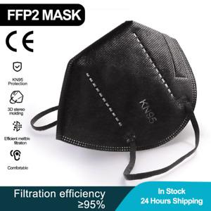 FPP2BLACK BREATHABLE REUSABLE FACE MASK Respirator 1/2/3/5/10/20pcs
