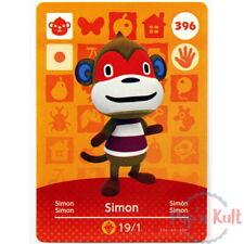 Carte Amiibo Animal Crossing 396 Simon [EUR] Série 4 Near Mint