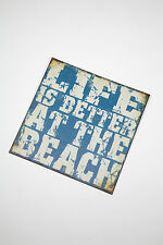 Heaven Sends Surf Shabby Chic Distressed Metal Life is Better at the Beach Sign