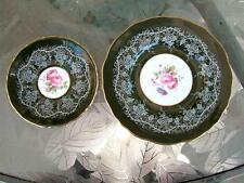 Plate & Saucer Royal Doulton England fine china Grape Vines Roses