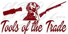 Tools of the Trade, Duck Hunter, Vinyl Decal with Duck Call, Labrador Retriever