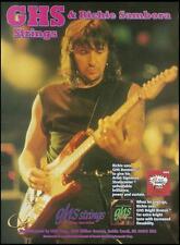 Bon Jovi Richie Sambora GHS Boomers guitar strings ad 8 x 11 advertisement