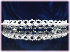 "DIADEME cristal perles ""Torsade d'argent"" Bijou Mariée Miss accessoire mariage"