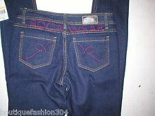 New NWT Rocawear Roca Wear Skinny Jeans 7 27 X 33 Pink Logo Girls Womens Dark