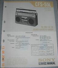 SONY CFS-55L 4-Band Stereo Cassette-Recorder Service Manual