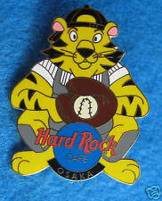 OSAKA JAPANESE TIGERS CAT BASEBALL TEAM MASCOT CATCHER Hard Rock Cafe PIN LE