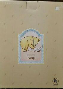 Winnie the Pooh Christopher Robin Lamp Disney Charpente Porcelain - Vintage RARE