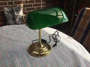 Vintage Schreibtischlampe / Bankerlampe Grün