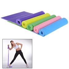 1.5m Elastic Yoga Pilates Rubber Stretch Resistance Exercise Fitness Band B IYBB