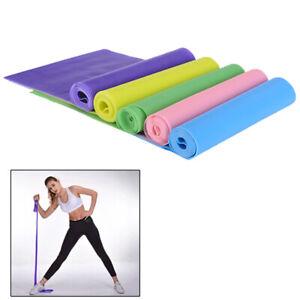 1.5m Elastic Yoga Pilates Rubber Stretch Resistance Exercise Fitness Band B m^BI