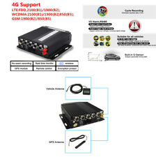 Realtime AHD 4CH Car Mobile DVR SD 4G Wireless GPS Audio Video Recorder Car Bus