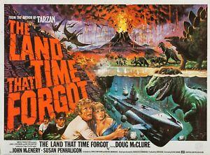 "THE LAND THAT TIME FORGOT repro quad poster UK 30x40"" Doug McClure FREE P&P"