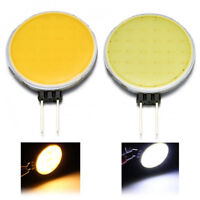 7W Cool/Warm White G4 12V AC/DC Round COB Super Bright LED Chip Light Lamp