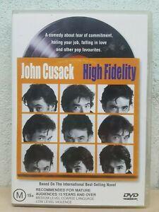 High Fidelity DVD John Cusack Jack Black CULT CLASSIC MOVIE - Region 4