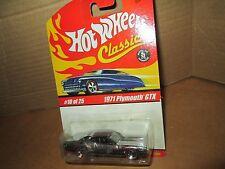 Hot wheels 1971 GTX classic card chrome finish 71 plymouth GTX #10 series 1 2004