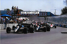 9x6 Photograph Nigel Mansell , F1 Lotus-Renault 95T  US GP  Dallas 1984