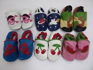 Baby SHOES Soft Sole Leather First Walker Toddler Crib Booties Slippers NEW USA