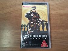 Metal Gear Solid Portable Ops Sony PlayStation Portable (PSP) Japan Import
