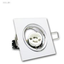 10 Set Foco Empotrable Anguloso Orientable GU10 230V Blanco Gu 10 Spot