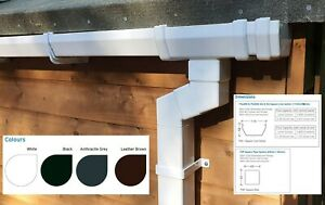 Square Plastic Guttering Kit For Sheds, Garages, Outhouses, & Small Buildings