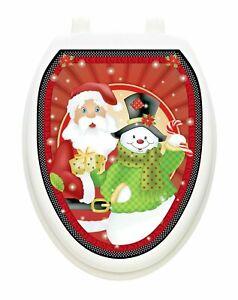 Polka Dot Christmas Toilet Tattoos Vinyl Removable Hygienic Lid Decoration
