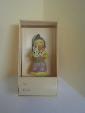 Toriart Anri Hand Painted Girl With Basket Filled With Bunnies 1984 Nib