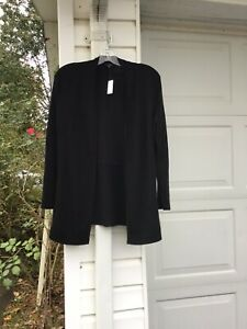 NWT Talbots Beautiful Black Cardigan Sweater Blazer With Pockets 3X 22W 24W