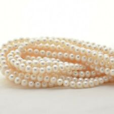 Grade AB Natural Freshwater Near Round Pearl Beads - approx 7mm - 8mm