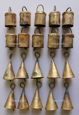 Shabby Chic Rustic Iron Tin Cow Bells Craft Supplies X mas Bell Indian 20 Pieces